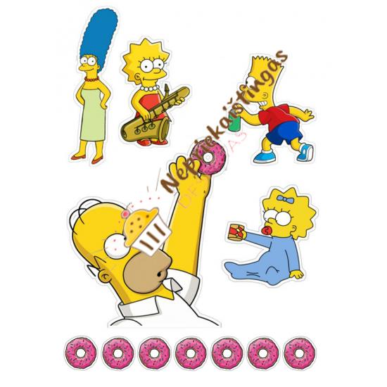 Valgomo popieriaus paveiksliukas figūrėlėms Homerio Simpsono šeima