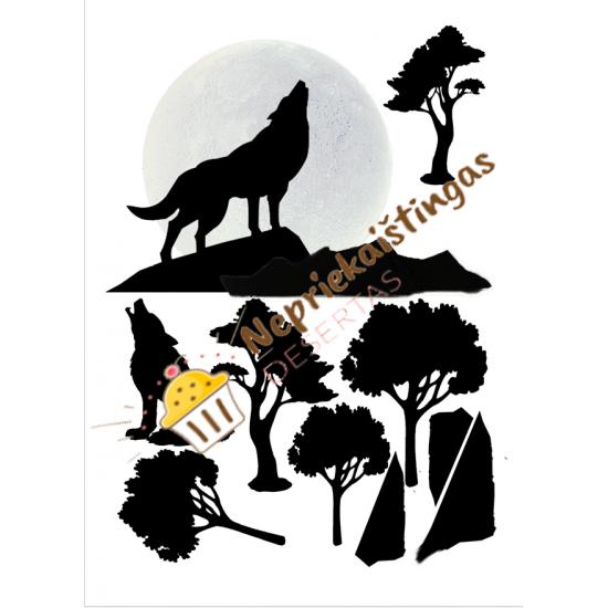 Valgomo popieriaus paveiksliukas figūrėlėms Helovyno desertams