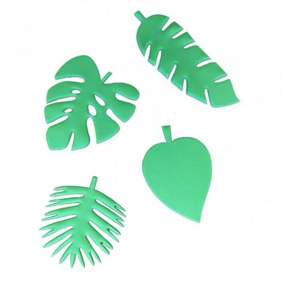 Tropinių augalų lapų formelės 4 vnt.