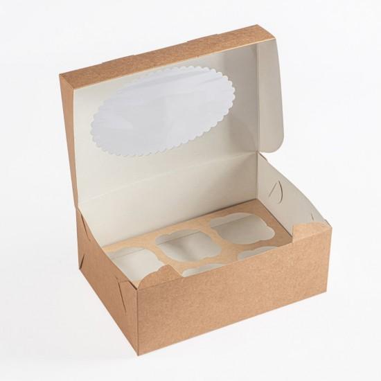 Dėžutė keksiukams 6 vnt.